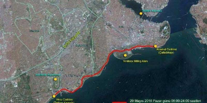 İstanbul'da fetih kutlaması nedeniyle bu yollar kapalı