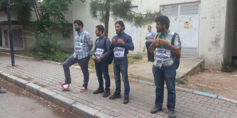 9 Eylül Üniversitesi'nde 'hakaret' gözaltısı