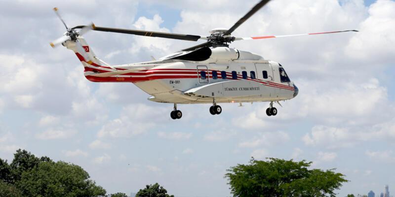 Cumhurbaşkanı Erdoğan, Kısıklı'ya helikopterle geldi