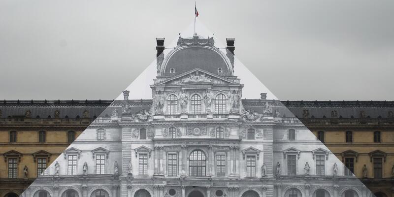 Louvre'un cam piramidi 'silindi' mi?