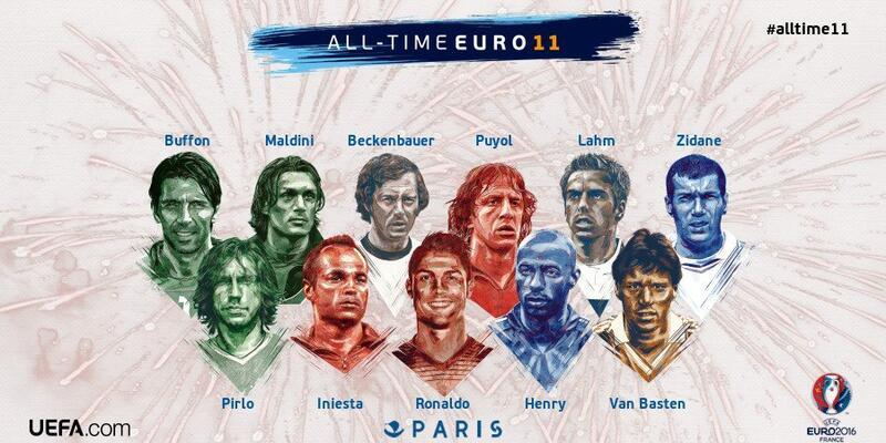 Avrupa Futbol şampiyonası tarihinin en iyi 11'i
