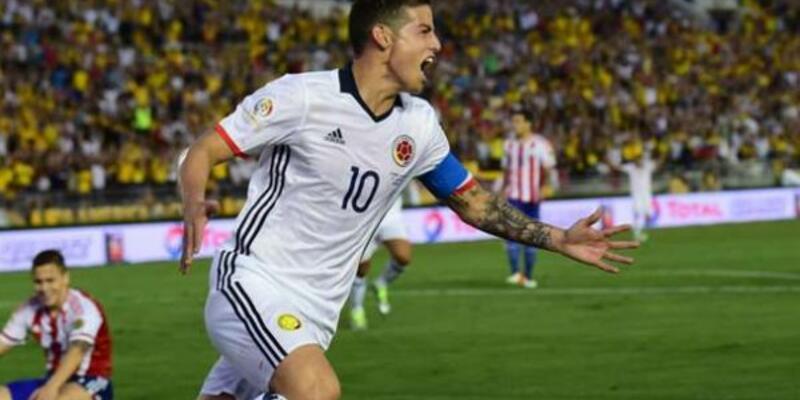 Futbol James'le güzel... Copa America: Kolombiya - Paraguay: 2-1