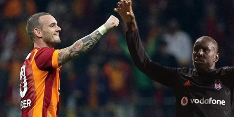 Sneijder ve Demba Ba'dan Türkiye'ye başarılar