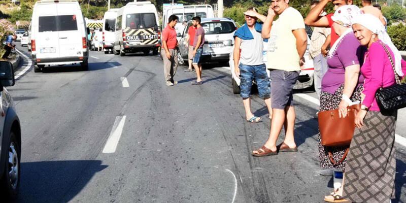 Bodrum'da 18 araçlık zincirleme kaza
