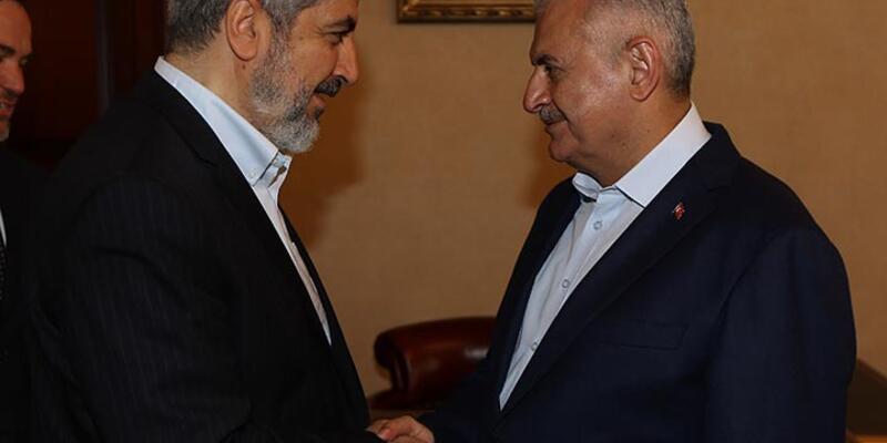 Başbakan Binali Yıldırım, Hamas'ın siyasi şefi Halid Meşal ile görüştü