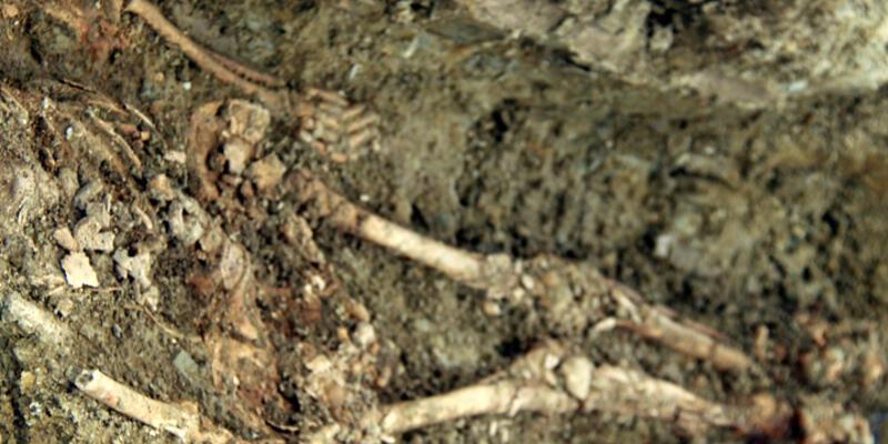 Edirne'de tarihi han kazısında Roma mezarlığı bulundu