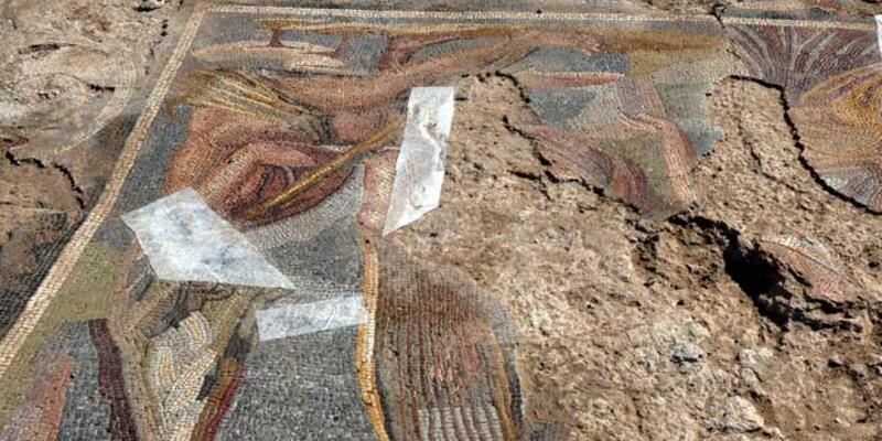 Kırıkkale'de Roma Dönemi'ne ait mozaik kalıntıları bulundu