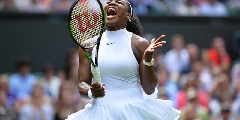 Serena Wiiliams rahat kazandı