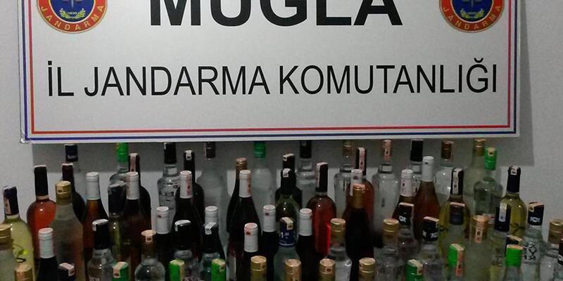 Muğla'da 1080 şişe kaçak içki ele geçirildi