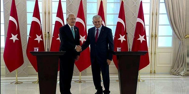 Başbakan Binali Yıldırım ve CHP lideri Kılıçdaroğlu'ndan ortak açıklama