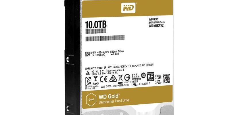 WD diskler 10TByte kapasiteye ulaştılar
