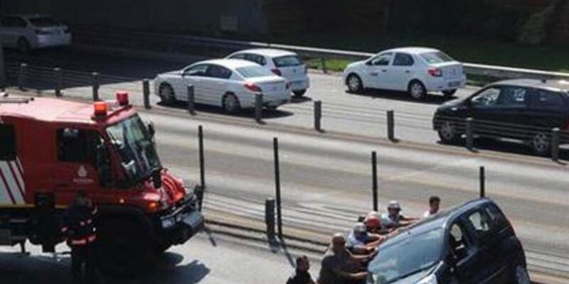 Mecidiyeköy trafiğini felç eden kaza
