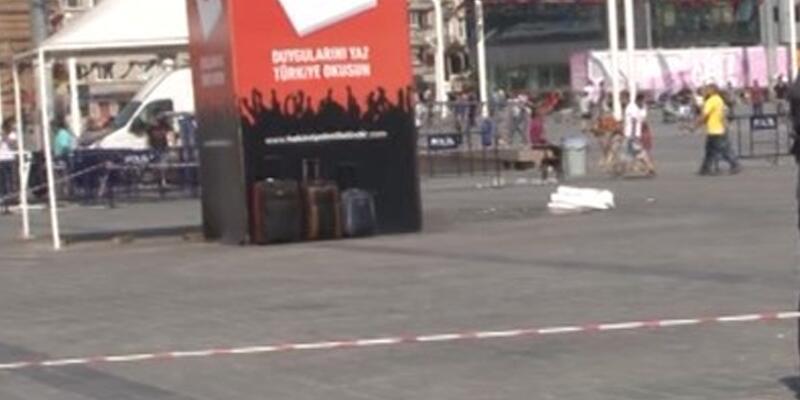 Taksim Meydanı'nda şüpheli bavullar