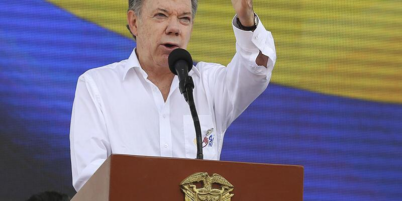 Nobel Barış Ödülü Kolombiya Devlet Başkanı Juan Manuel Santos'a