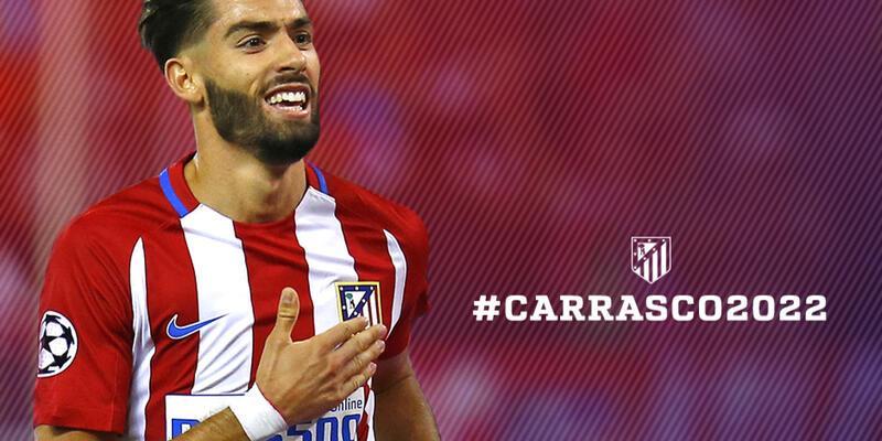 Atletico Madrid hat-trick yapan Carrasco'nun sözleşmesini uzattı