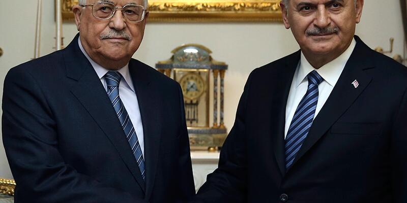Binali Yıldırım Mahmud Abbas ile görüştü