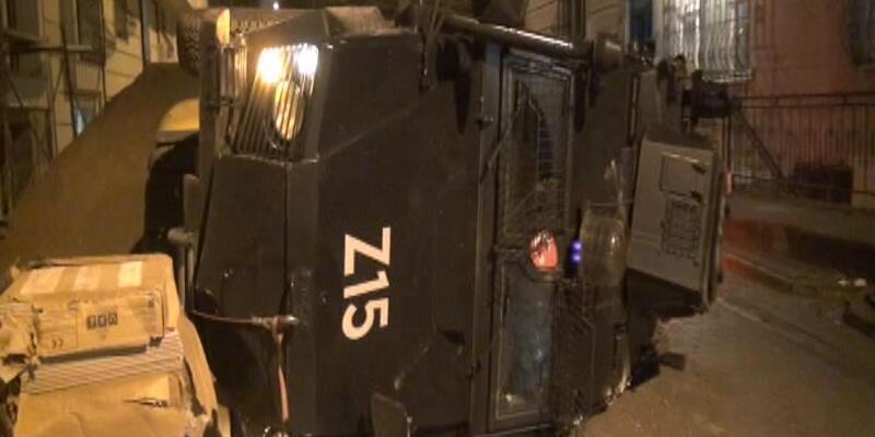 Esenyurt'ta zırhlı araç devrildi: 3 polis yaralı