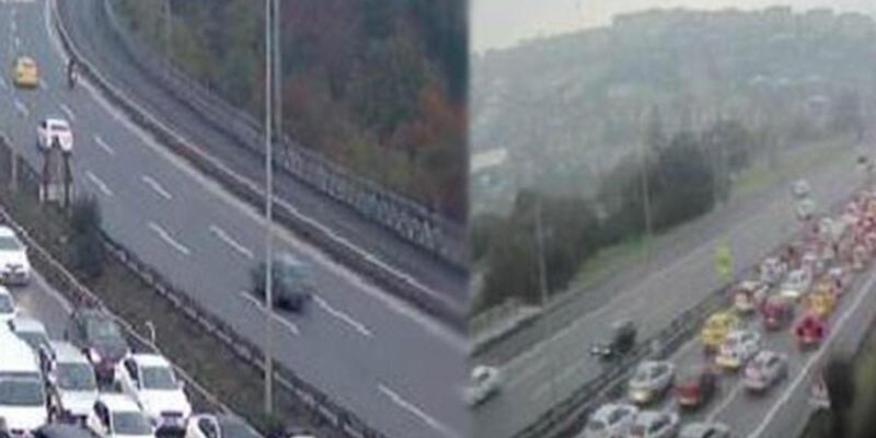 15 Temmuz Şehitler Köprüsü'nde trafik çift yönlü durduruldu