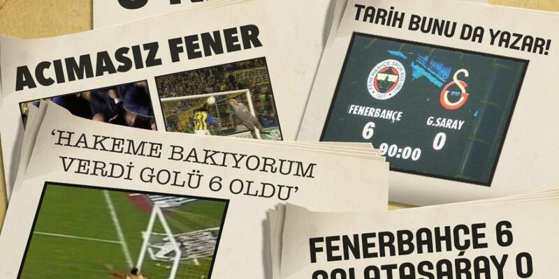 Fenerbahçelilerden Galatasaray'a 6-0'lık gönderme