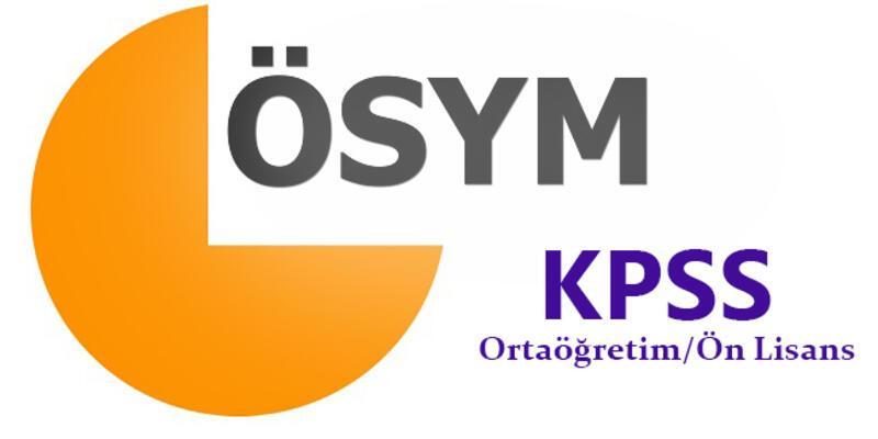 KPSS sınav yerleri: KPSS Ortaöğretim sınav giriş belgesi yayınlandı