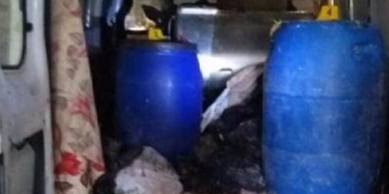 Van'da bomba yüklü minibüs ele geçirildi