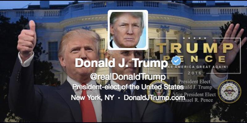 Donald Trump Twitter bio'sunu hemen güncelledi