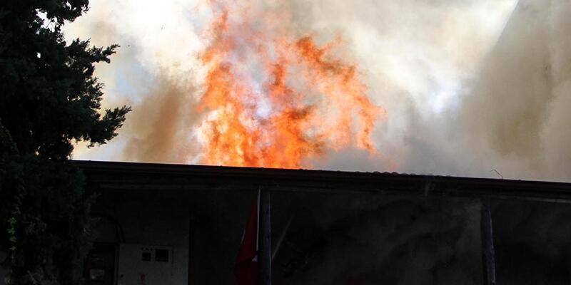 Fethiye'de işyerinde yangın