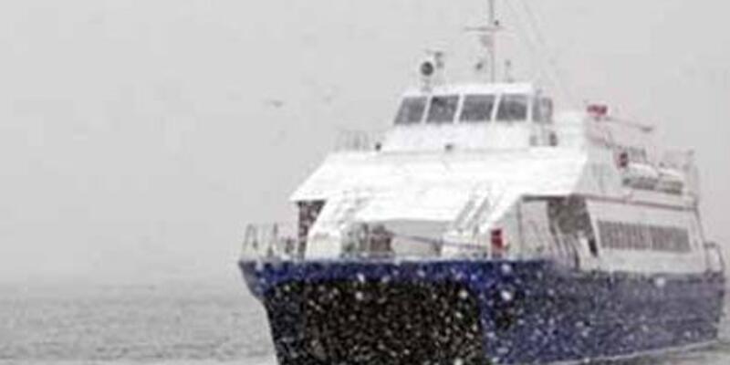 Deniz otobüsü seferleri yine iptal edildi