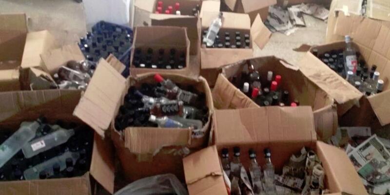 Amasya'da 295 litre kaçak içki ele geçirildi
