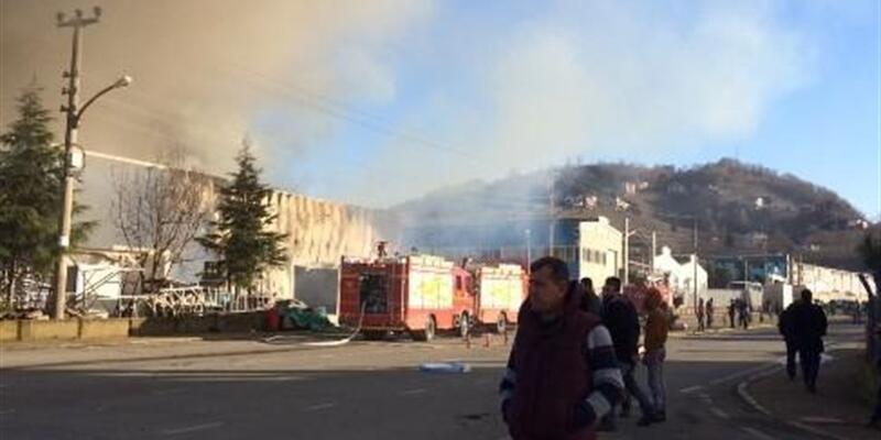 Trabzon'da yangın çıktı