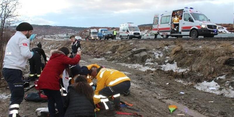 Öğrenci servisi şarampole yuvarlandı: 1 ölü, 14 öğrenci yaralı