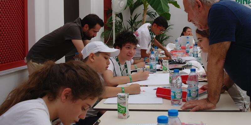 Yarıyıl tatilinde 7 ülkeden çocuklar ''Sağlık ve Sporu'' çizecek