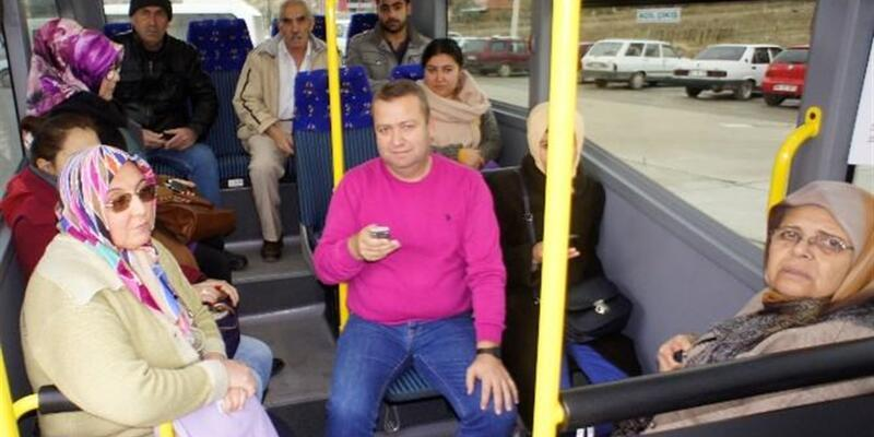 Manisa Alaşehir'deki halk otobüslerinde internet dönemi
