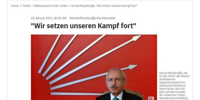Kılıçdaroğlu'ndan Alman gazetesine çarpıcı açıklamalar