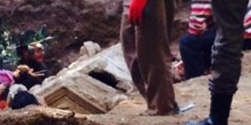 İznik'te bir zeytinlikte lahit bulundu