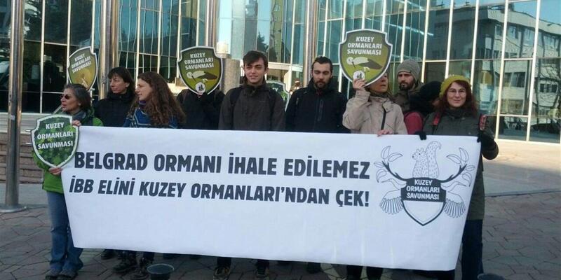 Haliç-Kemerburgaz dekoviline protesto: 'Belgrad Ormanı'nın sonunu getirecek'