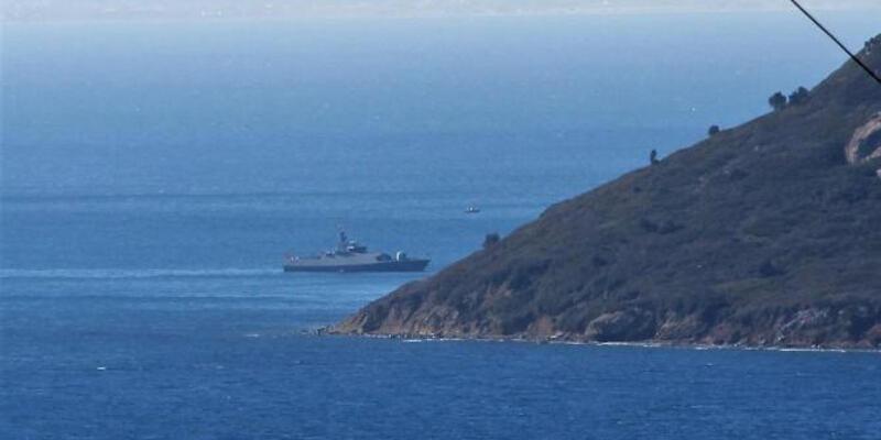 Kardak nöbetini Türk savaş gemisi devraldı