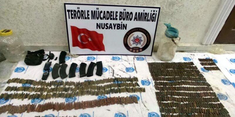 Mezarlıkta PKK cephaneliği bulundu