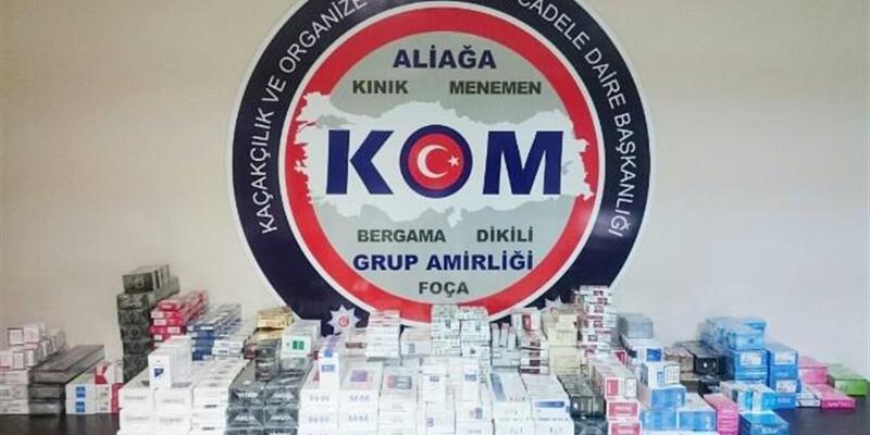 İzmir'de 2 bin 30 adet kaçak sigara ele geçirildi