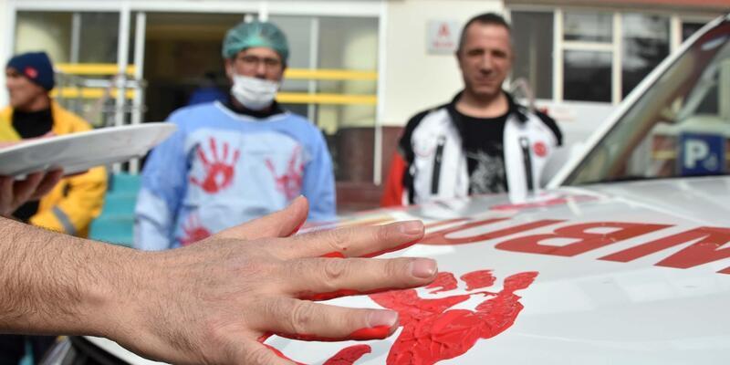 112 Acil Servis çalışanlarından şiddete tepki
