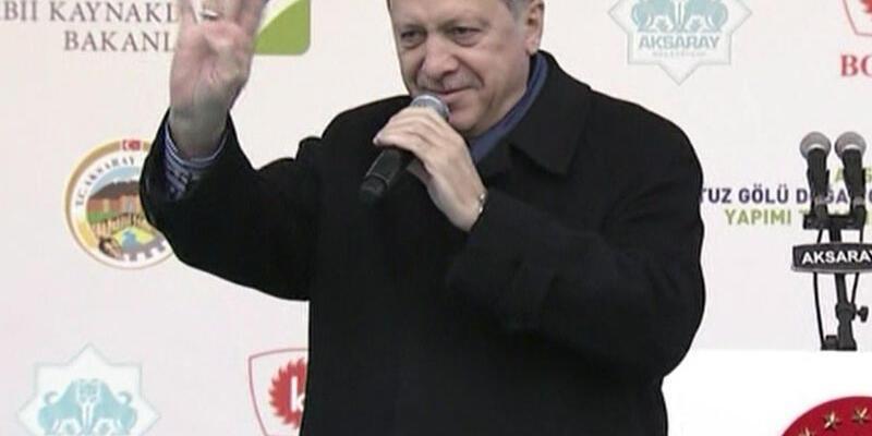 Cumhurbaşkanı Erdoğan Aksaray'da konuştu