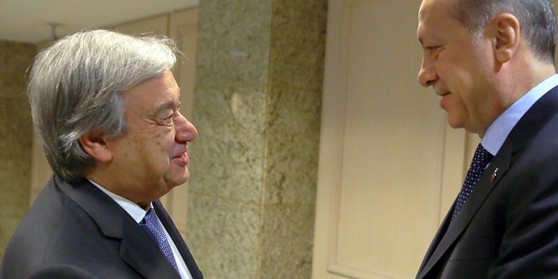 Guterres, Erdoğan'a 'siyasi çözüm için birlilkte çalışmayı' önerdi