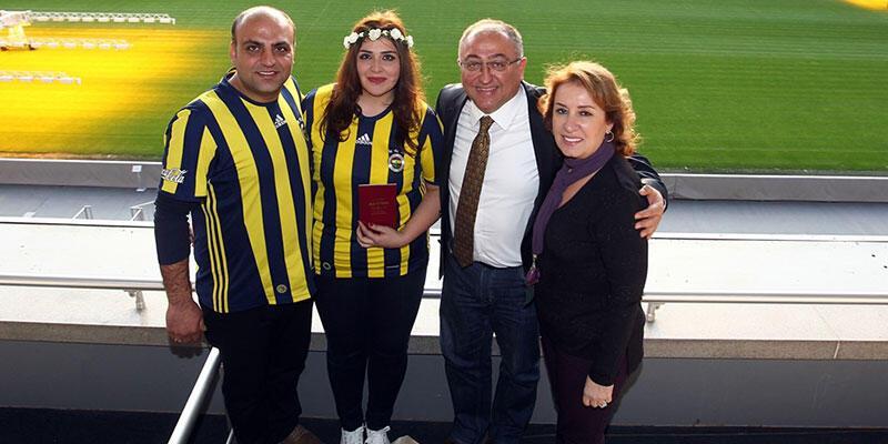 Şükrü Saracoğlu Stadı'nda nikah kıyıldı