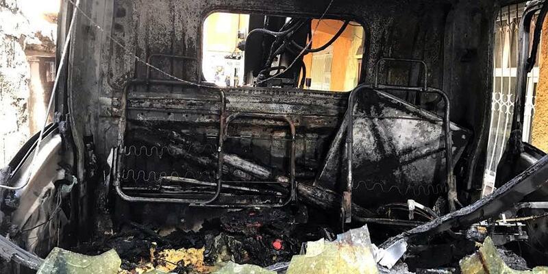 PKK'lılar arızaya giden DEDAŞ aracını yaktı