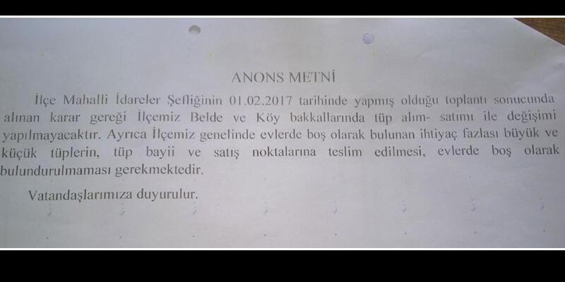 Şırnak Silopi'de camiden 'tüp' uyarısı