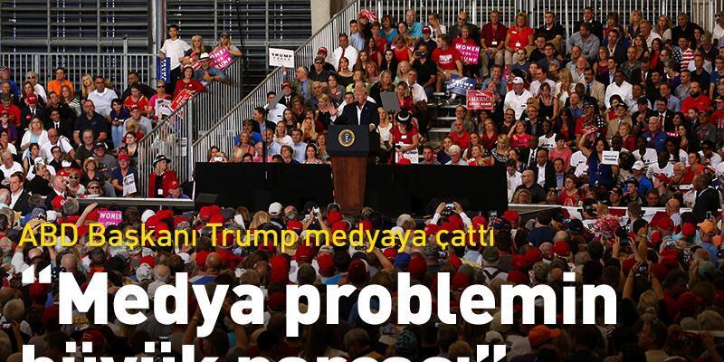 Trump mitingde medyaya çattı