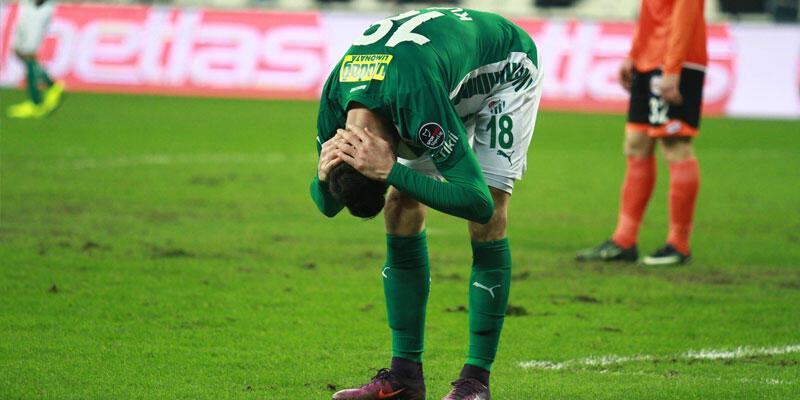 Bursaspor'da galibiyet özlemi devam ediyor
