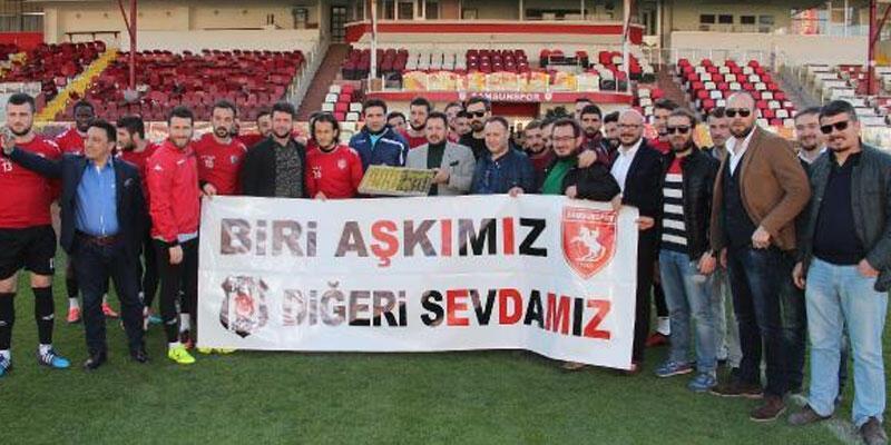 Beşiktaşlılar'dan Samsunspor'a destek