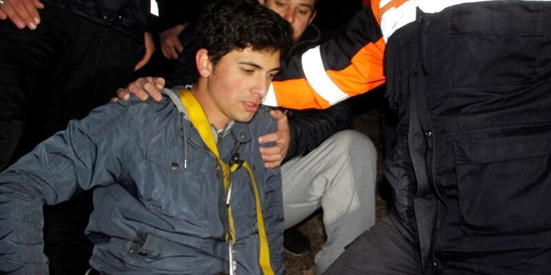 Uçurumda mahsur kaldı, 6 saat sonra kurtarıldı