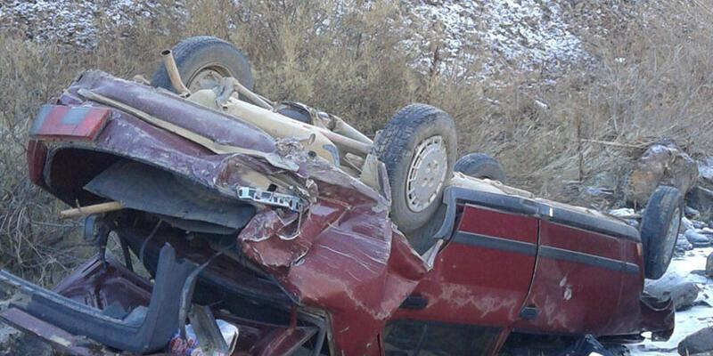 Aracıyla uçuruma yuvarlandı cesedi bir gün sonra bulundu